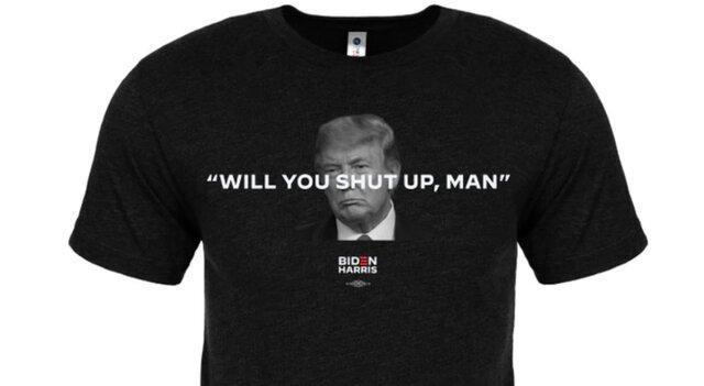 فروش تی شرت های خفه می شوی مرددر ستاد انتخاباتی بایدن