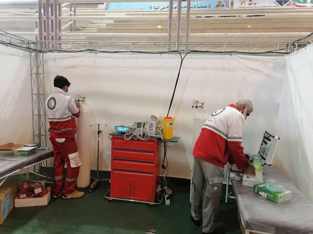 خبرنگاران راه اندازی مراکز مراقبتی بیماری کرونا در استان های کشور