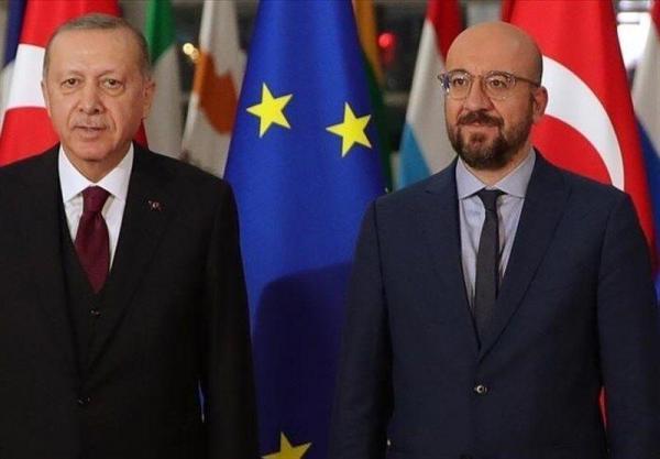 رایزنی اردوغان و رئیس شورای اتحادیه اروپا برای احیای روابط